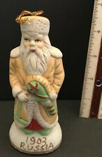 Santa 1903 Russia Claus Christmas Figurine Hand Painted Midwestern Home Vintage