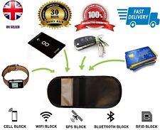 Car Keyless Entry Fob Guard Signal Blocker Genuine Leather Faraday Bag pouch UK