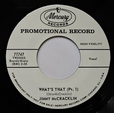 """45Re✦JIMMY McCRACKLIN✦ """" What's That Pt.1 & Pt.2"""" Pounding R&B Dancers.2 Sider.♫"""