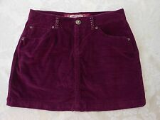 Limited Too Girls size 14 dark purple corduroy skorts with rhinestones - VGUC!