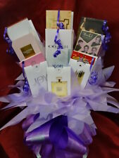 Lilac Purple Box Set Perfume Samples Flower Bouquet Ribbon Bow Birthday Gift Box