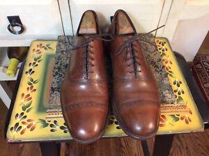 Allen edmonds fifth avenue cap toe oxfords mens Sz US 10 D brown leather