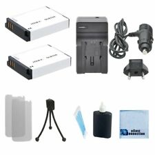 2 SLB-10A Battery + Charger for Samsung M100 NV9 P800 PL50 SL102 + Kit