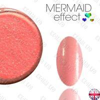 MERMAID EFFECT NAIL ART POWDER Shimmer Glitter Iridescent Pixel Suggar Peach 07