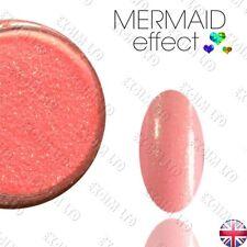Efecto de Durazno Sirena Arte Uñas Polvo Gel híbrido efekt syrenki Jasny róż
