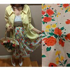 Vintage 60s flower polka dot skirt