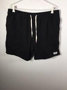 Von Zipper mens black drawstring elastic waist walk shorts size 38 W36-40 inch
