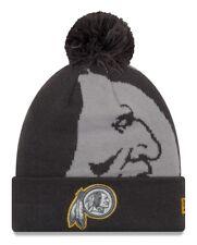 """Washington Redskins New Era NFL """"Logo Whiz 3"""" Cuffed Knit Hat with Pom - Gray"""