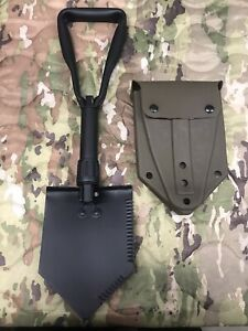 Tri-fold Entrenching Tool / Shovel Mil-Spec With USGI NOS ALICE Carrier