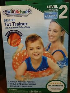 SwimSchool Deluxe TOT TRAINER Vest Durable PVC Inner Tube Ages 2-4 Years