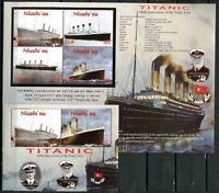 Niuafo'ou 2012 Titanic Schiffe Ships Navi Bateaux 469-473 Block 43 MNH
