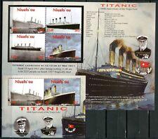 Niuafo 'ou 2012 titanic barcos ships Navi bateaux 469-473 bloque 43 mnh