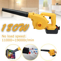 180W Cordless Leaf Blower Speed Sweeper Vacuums Li-ion Handheld Battery Charger