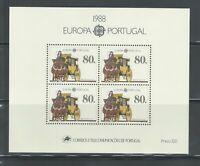 PORTUGAL | 1988 | Europa CEPT Minisheet. Mint NH.