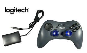 Logitech WingMan Cordless RumblePad Controller with Dongle | Grey/Blue