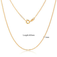 18K Gold Plated Chain Necklaces Thin No Drops Fashion Jewelry Womens Classic