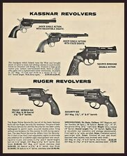 1977 Kassnar Jager & Squires Bingham Ruger Police & Security Revolver Print Ad