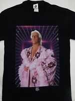 Ric Flair Wearing Robe Officially Licensed Wrestling WWE Black T-Shirt