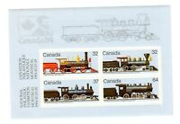 CANADA 1984 S/SHEET, CANADIAN LOCOMOTIVES -2- (1860-1905), UC# 1039a,  MINT