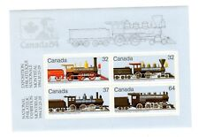 CANADA 1984 S/SHEET, CANADIAN LOCOMOTIVES -2- (1860-1905), UC# 1039a,  MINT