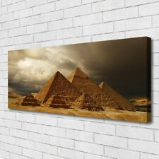Canvas print Wall art on 125x50 Image Picture Pyramids Architecture