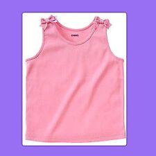 NWT Girls 7 Gymboree ICE CREAM SOCIAL Pink Cotton TANK TOP SHIRT ribbon BOWS