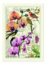 """Michel Design Works, """"Orchids in Bloom"""", Pure cotton printed tea towel."""