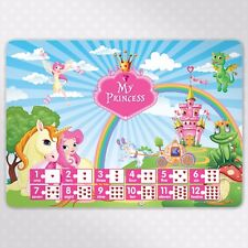 Princess Children's Educational Poster Placemat - Numbers