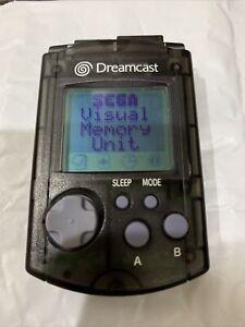 Official OEM Sega Dreamcast Visual Memory Unit VMU Memory Card Black HKT-7000