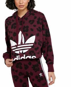 adidas Originals Women's Bellista All-Over Print Cropped Hoodie Sweatshirt