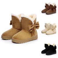 Damen Winterstiefel Gefütterte Schneestiefel Snow Boots Stiefeletten Schuhe Neu