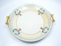 Antique Hutschenreuther Selb Bavaria Porcelain Hand Painted Floral Gilt Plate