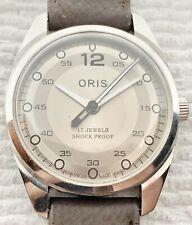 Vintage Bullseye Dial Oris 17j Manual Wind Watch