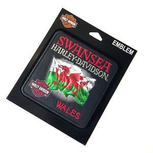 Harley Davidson Swansea Welsh Flag Patch Emblem