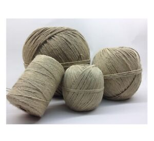 Flax Hemp Whipping Twine 1mm x 4 meters. Craft cards wedding sewing christmas UK