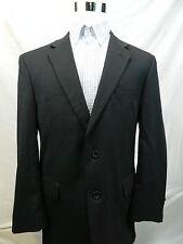 Jos A Banks Mens 44 Regular Black 2 Button 100% Wool Blazer Sport Coat