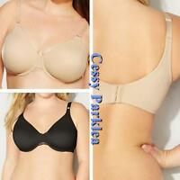 """US """" avenue BODY"""" Black Beige Back Smoother Wire Stretchy Cup Bras Plus-Size"""