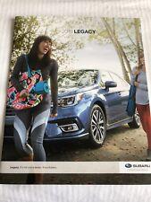 2018 SUBARU LEGACY 24-page Original Sales Brochure