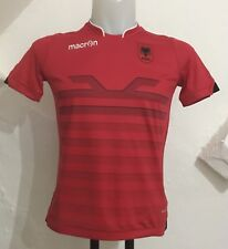 ALBANIA 2016/17 S/S HOME SHIRT BY MACRON SIZE BOYS 8-9 YEARS BRAND NEW