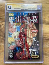 New Mutants #98 CGC 9.6 SS Signed Rob Liefeld X-Men 1st Deadpool Direct Edition