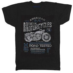 MOTORCYCLE CAFE RACER INSPIRED MOTOBIKE VINTAGE RETRO MENS HOT ROD 6 T SHIRT