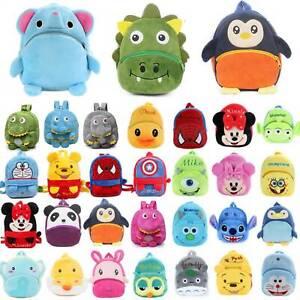 Toddler Kids Cartoon Animal Plush Small School Bag Boys Girls Cute Backpack Bags