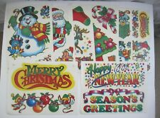 Vintage Static Cling Christmas Kit Window Decorations