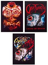 Obituary patch DIY printed textile rock band patches thrash heavy death metal