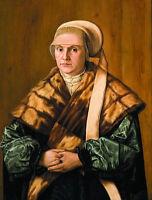Oil painting barthel beham - 一位德国女士的肖像 - German female portrait free shipping @