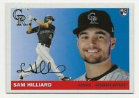 2020 Topps Archives SAM HILLIARD SP 1955 Image Variation Rockies RC Rookie #40