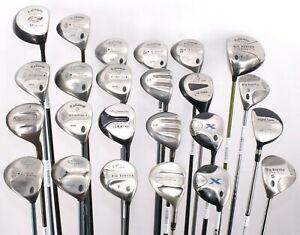 Lot of 24 Various Golf Club Woods Callaway Cobra Yonex Orlimar Adams RH/LH