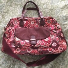 OILILY Rose Gold FLORAL Multi-Colored Large Travel or OVERNIGHT Duffle Bag-MINT