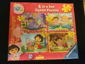 Nick Jr Dora the Explorer 4 in a box Jigsaw Puzzles by Ravensburger Puzzle