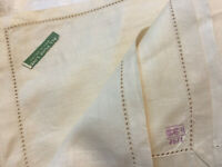 VINTAGE 1960s UNUSED  100% Linen Embroidered Tablecloth